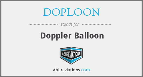 What does DOPLOON stand for?