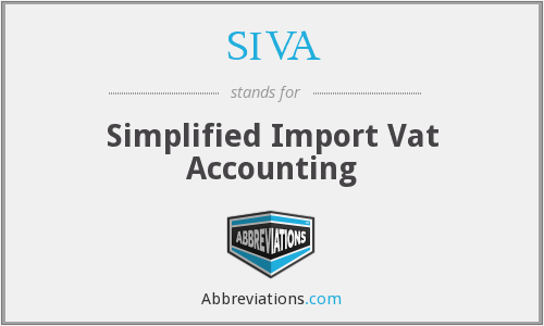 SIVA - Simplified Import Vat Accounting