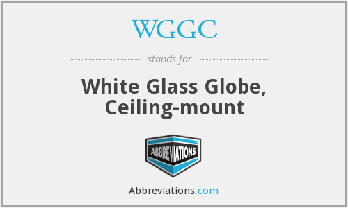 WGGC - White Glass Globe, Ceiling-mount