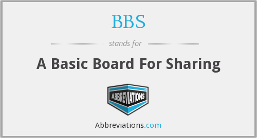 BBS - A Basic Board For Sharing