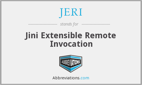 What does JERI stand for?