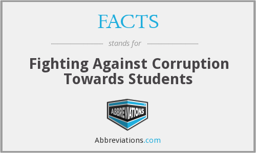 FACTS - Fighting Against Corruption Towards Students