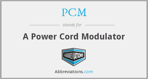 PCM - A Power Cord Modulator