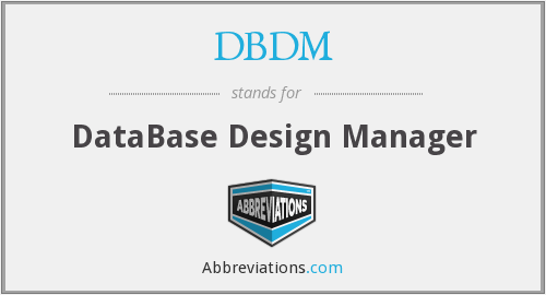 DBDM - DataBase Design Manager