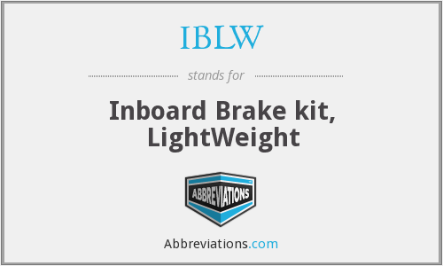 IBLW - Inboard Brake kit, LightWeight