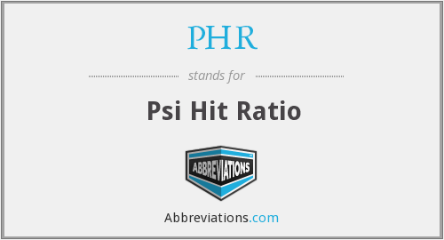 PHR - Psi Hit Ratio