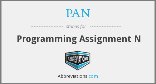 PAN - Programming Assignment N