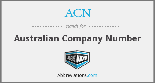 ACN - Australian Company Number