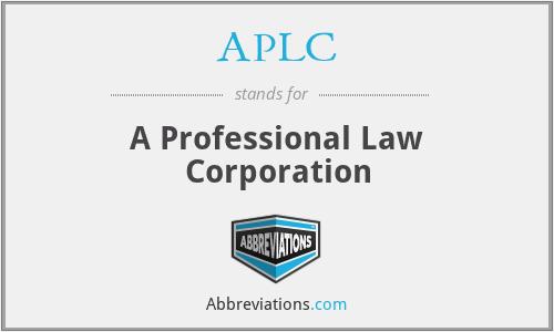 APLC - A Professional Law Corporation