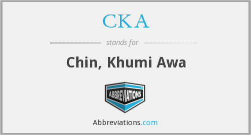 CKA - Chin, Khumi Awa