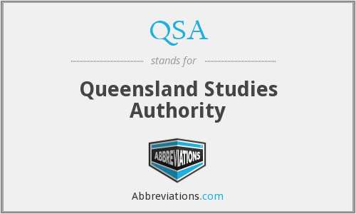 QSA - Queensland Studies Authority