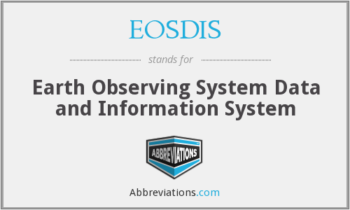 What does EOSDIS stand for?
