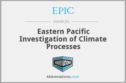 EPIC - Eastern Pacific Investigation of Climate Processes