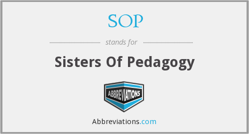 SOP - Sisters Of Pedagogy