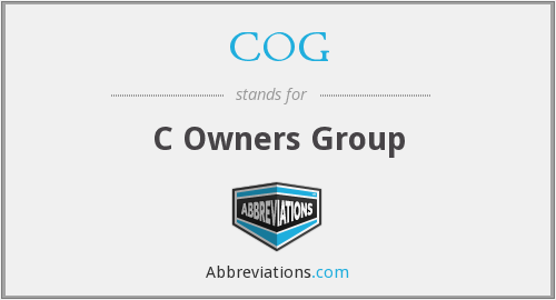 COG - C Owners Group