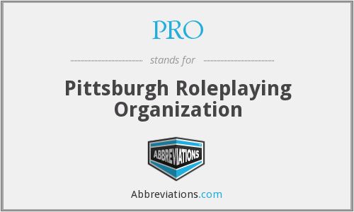 PRO - Pittsburgh Roleplaying Organization