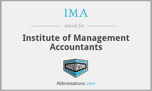 IMA - Institute of Management Accountants
