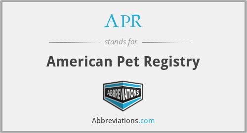 APR - American Pet Registry
