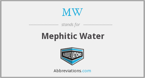 MW - Mephitic Water