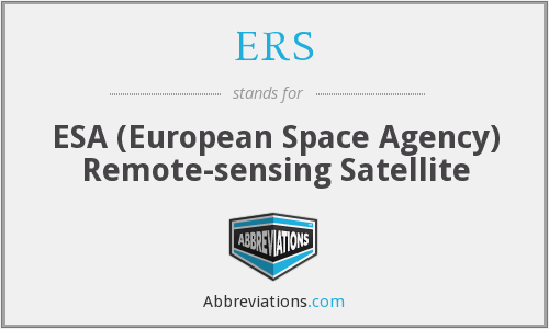 ERS - ESA (European Space Agency) Remote-sensing Satellite