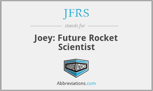 JFRS - Joey: Future Rocket Scientist