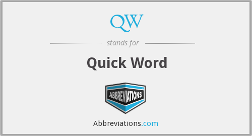 QW - Quick Word