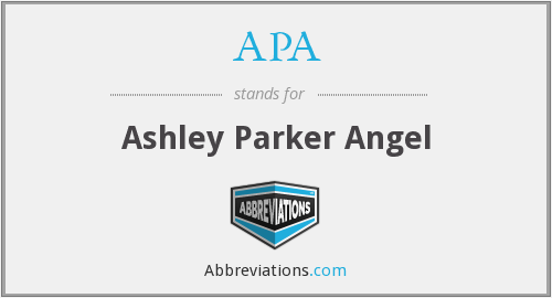 APA - Ashley Parker Angel