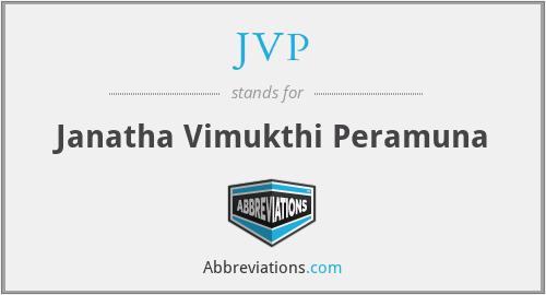 JVP - Janatha Vimukthi Peramuna