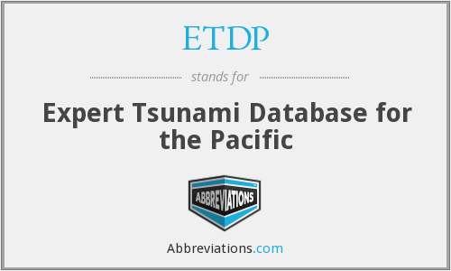 ETDP - Expert Tsunami Database for the Pacific