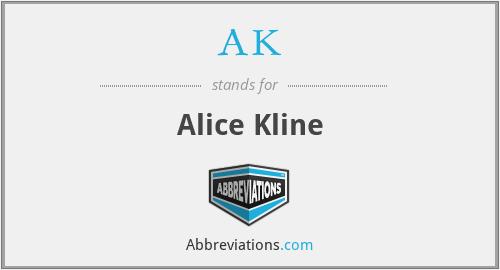 AK - Alice Kline
