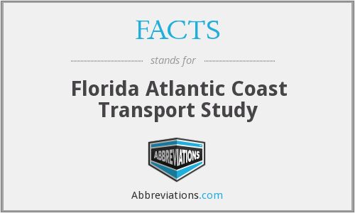 FACTS - Florida Atlantic Coast Transport Study