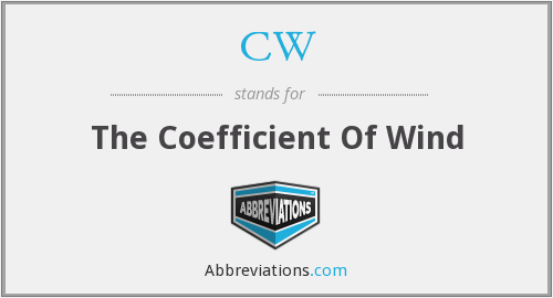 CW - The Coefficient Of Wind
