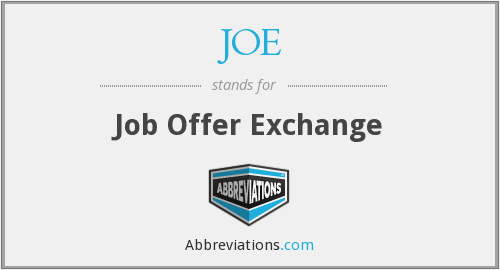 JOE - Job Offer Exchange