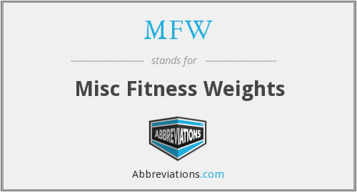 MFW - Misc Fitness Weights