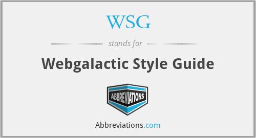 WSG - Webgalactic Style Guide