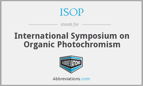 ISOP - International Symposium on Organic Photochromism