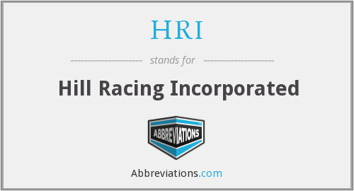 HRI - Hill Racing Inc