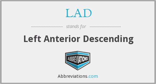 LAD - Left Anterior Descending