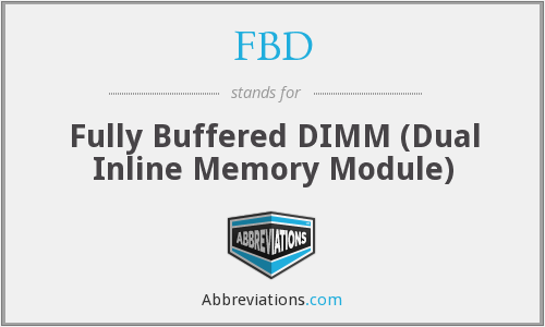 FBD - Fully Buffered DIMM (Dual Inline Memory Module)