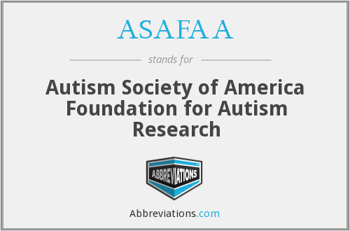 ASAFAA - Autism Society of America Foundation for Autism Research