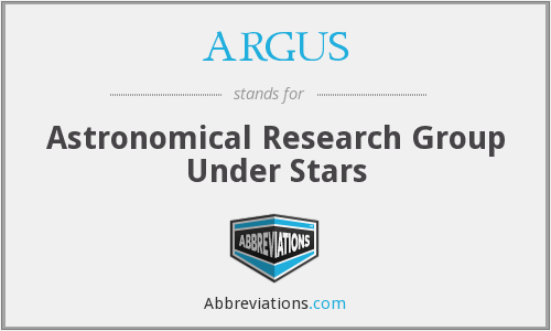 ARGUS - Astronomical Research Group Under Stars