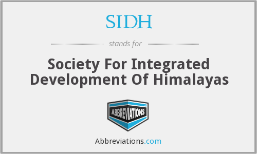 SIDH - Society For Integrated Development Of Himalayas