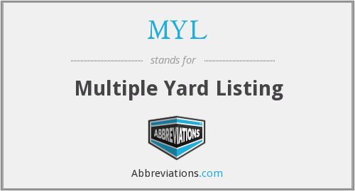 MYL - Multiple Yard Listing