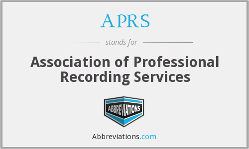 APRS - Association of Professional Recording Services