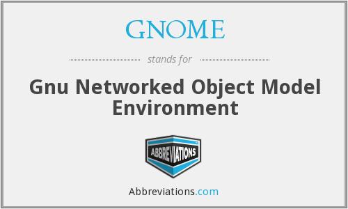 GNOME - Gnu Networked Object Model Environment