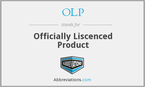 OLP - Officially Liscenced Product