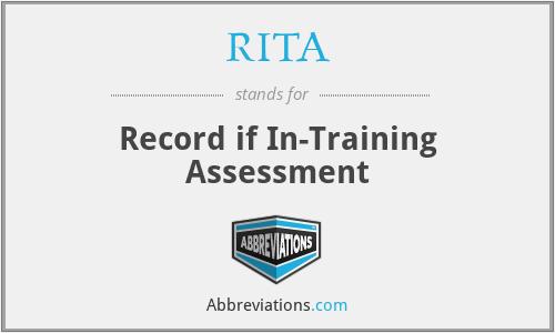 RITA - Record if In-Training Assessment