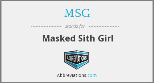 MSG - Masked Sith Girl