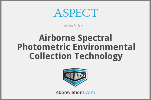 ASPECT - Airborne Spectral Photometric Environmental Collection Technology