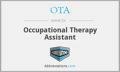 OTA - Occupational Therapy Assistant